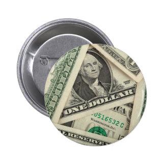 Billetes de dólar uno pins