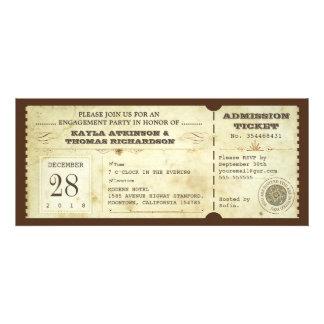 billetes de grupo de compromiso de la tipografía d invitación