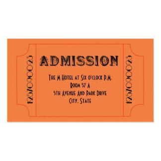 Billetes de grupo del tema del bar de los años 20  tarjetas de negocios
