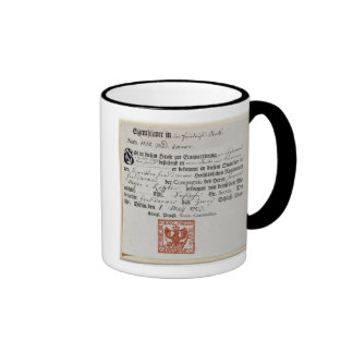 Billeting voucher, 1759 ringer mug
