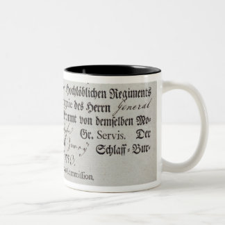 Billeting voucher, 1759 Two-Tone coffee mug