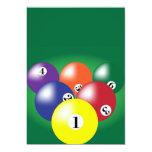 Billiard Background 5x7 Paper Invitation Card