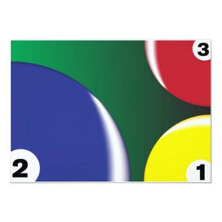 Billiard Background Card