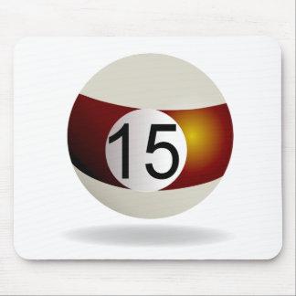 Billiard ball 15 mouse pad