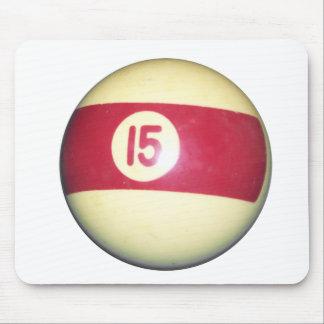 Billiard Ball #15 Mouse Pad