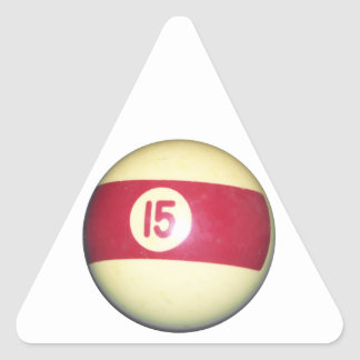 Billiard Ball #15 Triangle Sticker