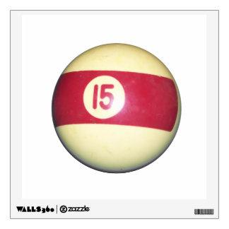 Billiard Ball #15 Wall Decal