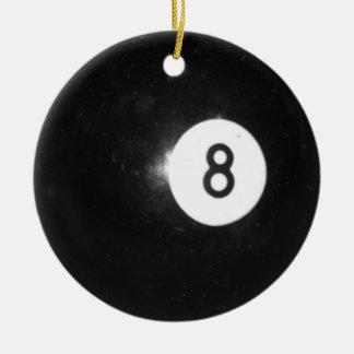 Billiard Ball #8 Ceramic Ornament