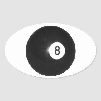 Billiard Ball #8 Oval Sticker