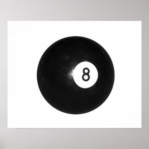 Billiard Ball #8 Poster