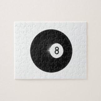 Billiard Ball #8 Jigsaw Puzzle