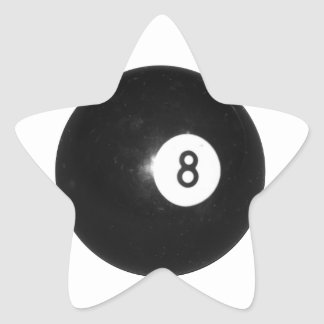 Billiard Ball #8 Star Sticker