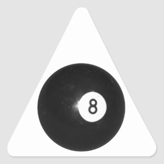 Billiard Ball #8 Triangle Sticker