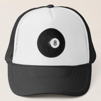 Billiard Ball #8 Trucker Hat