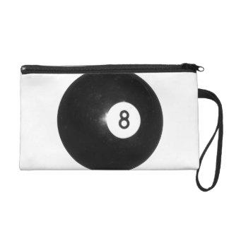 Billiard Ball #8 Wristlet Purse