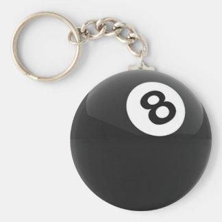 Billiard Ball Basic Round Button Keychain