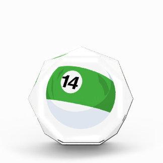 Billiard Ball No. 14 Striped Green Acrylic Award