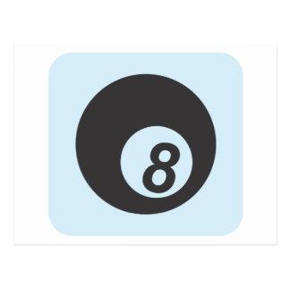 Billiard Ball Number Eight Postcard