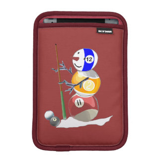 Billiard Ball Snowman iPad Mini Sleeve