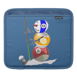 Billiard Ball Snowman Sleeve For iPads