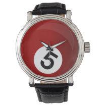 billiard ball sports design wrist watch