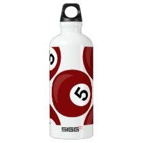 billiard balls aluminum water bottle