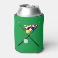 Billiard Balls and Pool Cues Can Cooler