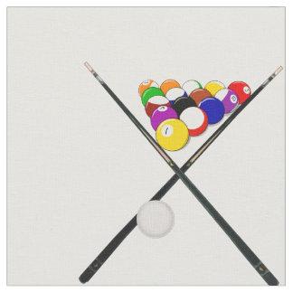 Billiard Balls and Pool Cues Fabric