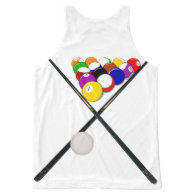 Billiard Balls and Pool Cues All-Over Print Tank Top