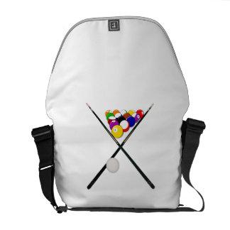 Billiard Balls and Pool Cues Messenger Bag