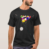 Billiard Balls and Pool Cues T-Shirt