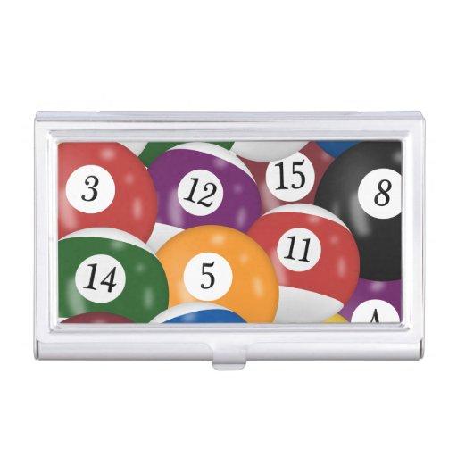 Billiard Balls Background Business Card Case