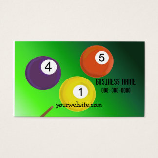 Billiard Balls Business Card