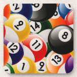Billiard Balls Collage Beverage Coaster