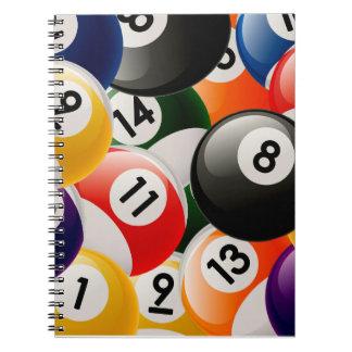 Billiard Balls Collage Spiral Note Book