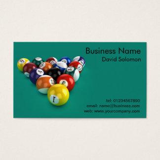 Billiard Balls Green Beize Business Cards