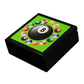 Billiard Balls Keepsake Jewelry Gift Box