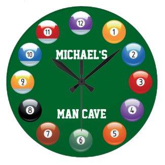 Billiard Personalized Wall Clock