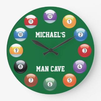 Billiard Balls Personalized Wall Clock