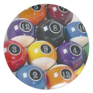 Billiard Balls Plate