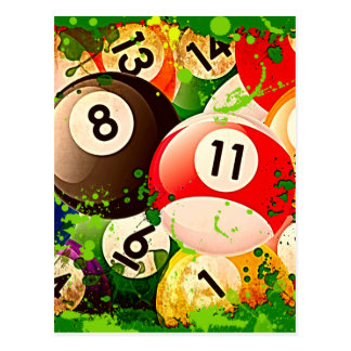 Billiard Balls Postcard