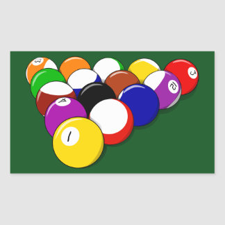 Billiard Balls Rectangular Sticker