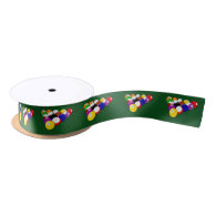 Billiard Balls Satin Ribbon