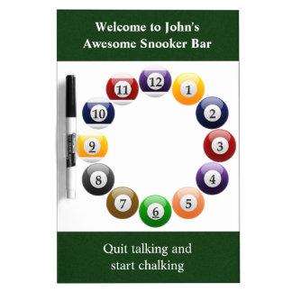Billiard Balls Shiny Colorful Pool Snooker Sports Dry-Erase Board