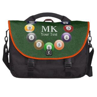Billiard Balls Shiny Colorful Pool Snooker Sports Computer Bag