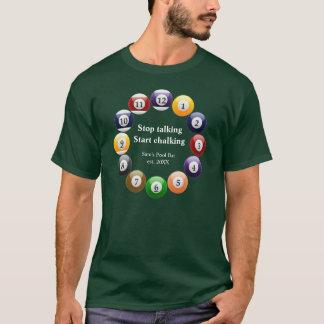 Billiard Balls Shiny Colorful Pool Snooker Sports T-Shirt