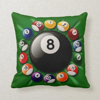Billiard Balls Throw Pillow