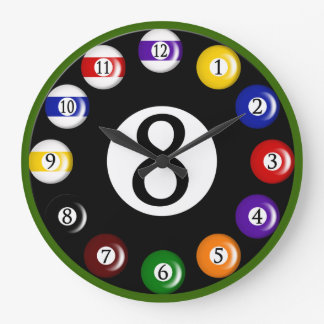 Billiard Balls Wall Clock