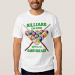 BILLIARD COLLEGE SCHOOL OF HARD BREAKS SHIRT