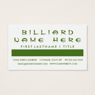 BILLIARD customer appreciation (mod squares) Business Card